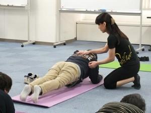 体感トレーニング。基本姿勢を教えていただきました。