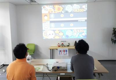 ゲーム対決の風景