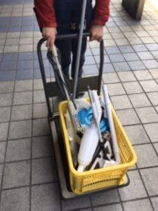 清掃実習で使用する道具